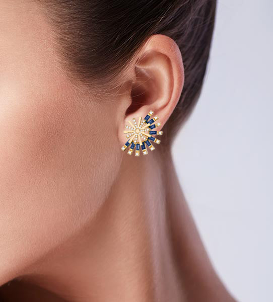 Sapphire Moulin Earrings