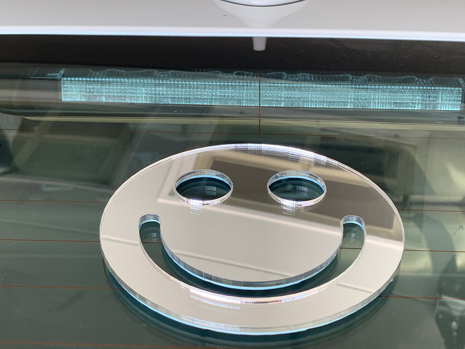 "Happy Face Emoji Cultural Icon Acrylic Mirror Decoration(5""*5""/pc, 1/8"" thick,Ready to Strike)"
