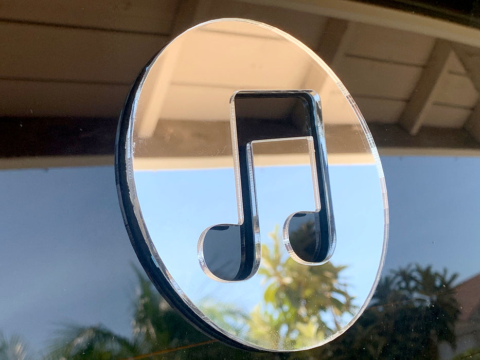 "Itune & Music Icon Acrylic Mirror Decoration(5""*5""/pc, 1/8"" thick,Ready to Strike)"