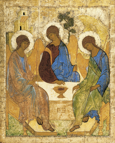 Andrei Rublev, Icon of the Holy Trinity (1422-1427) Painting
