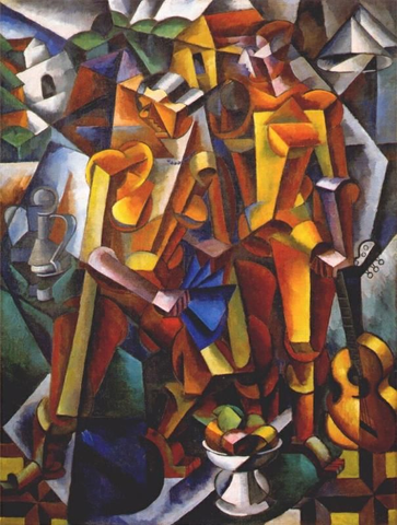 Lyubov Popova, Composition with Figures (1914-1915) Painting