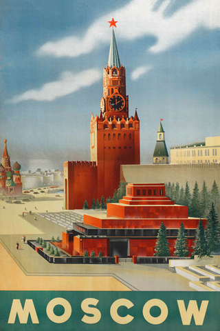 Moscow Vintage Travel Poster