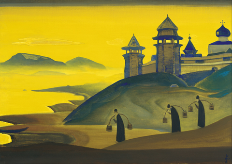 """Nicholas Roerich, And We are Trying. From the """"Sancta"""" Series, 1922 Painting Poster"""