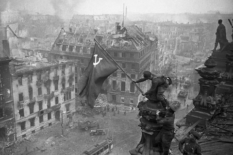 Raising a Flag over the Reichstag Photograph (April 30th, 1945)