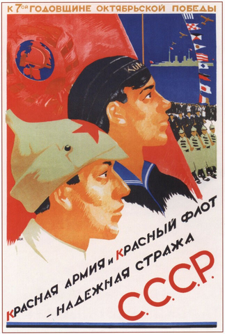 The Red Army and Red Navy are the Reliable Guards of the USSR (1924) Poster