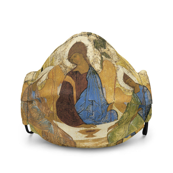 Andrei Rublev, Icon of the Holy Trinity (1422-1427) | Premium Face Mask