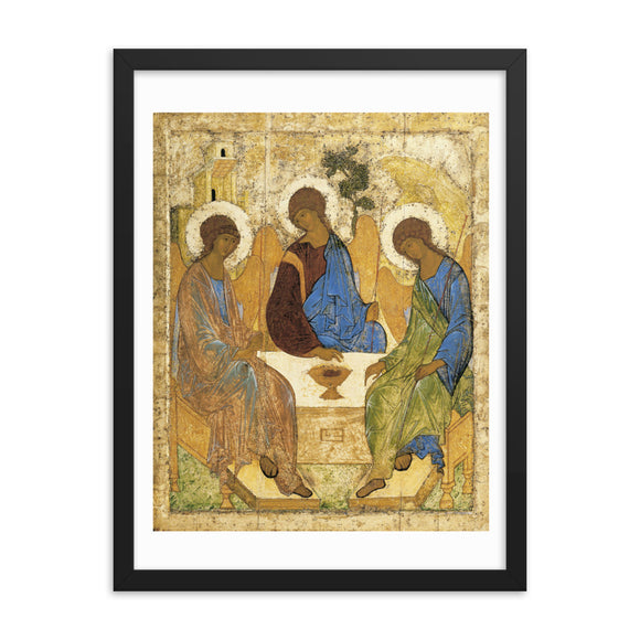 Andrei Rublev, Icon of the Holy Trinity (1422-1427) Framed Poster