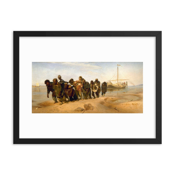 Ilya Repin, Barge Haulers on the Volga (1870) Framed Painting Poster