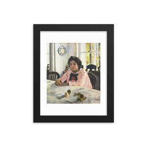 Valentin Serov, Girl with Peaches (1887) Framed Poster