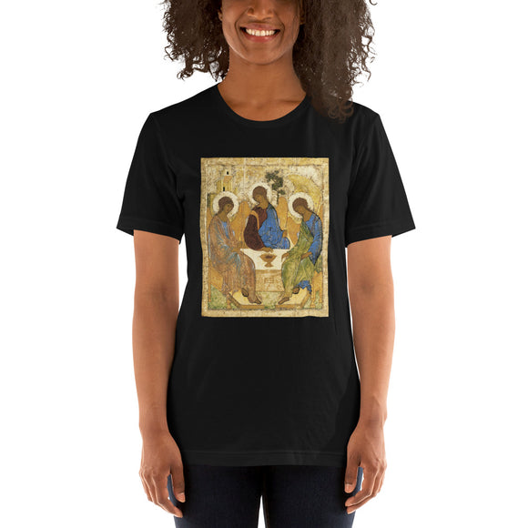 Andrei Rublev, Icon of the Holy Trinity, 1422-1427 Women's T-Shirt