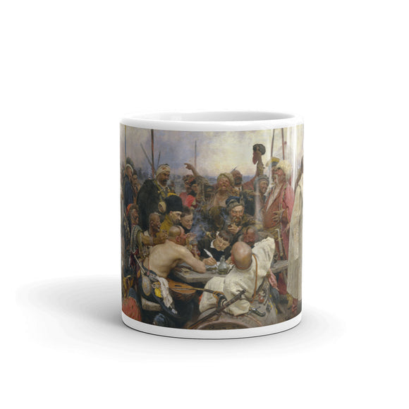 Ilya Repin, The Zaporozhye Cossacks Replying to the Sultan, 1878-1891 Mug