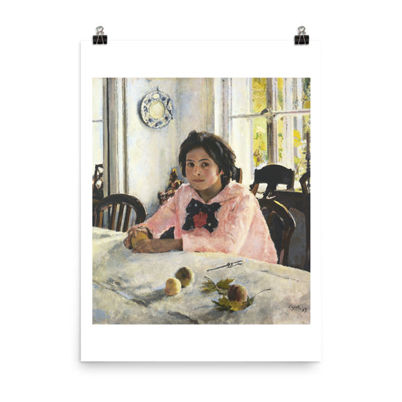 Valentin Serov, Girl with Peaches (1887) Painting Poster