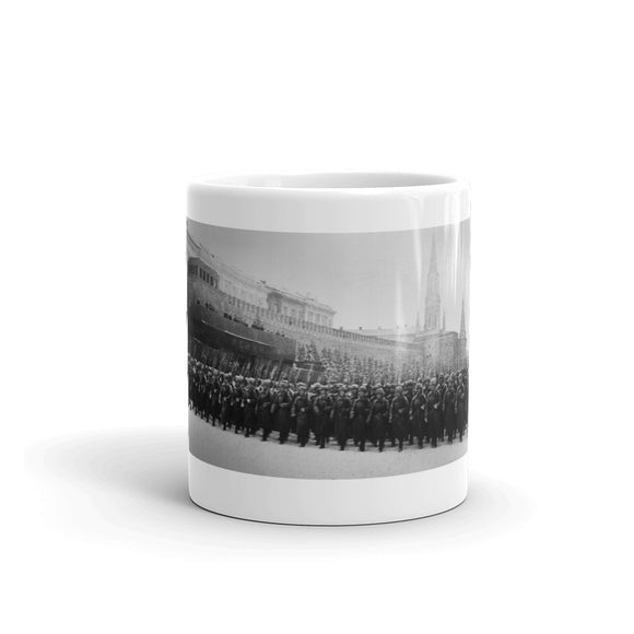 Red Square Parade Battle of Moscow in front of Mausoleum, November 7th 1941 Mug