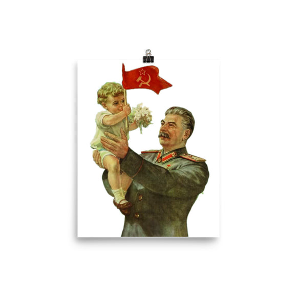 Stalin Holding Baby Poster