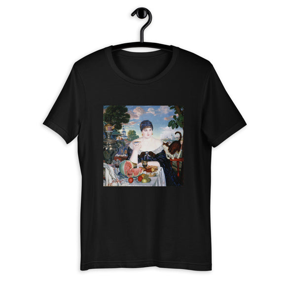 Boris Kustodiev, The Merchant's Wife at Tea, 1918 Men's T-Shirt