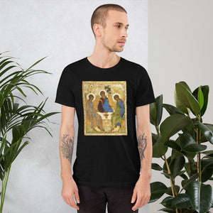 Andrei Rublev, Icon of the Holy Trinity, 1422-1427 Men's T-Shirt