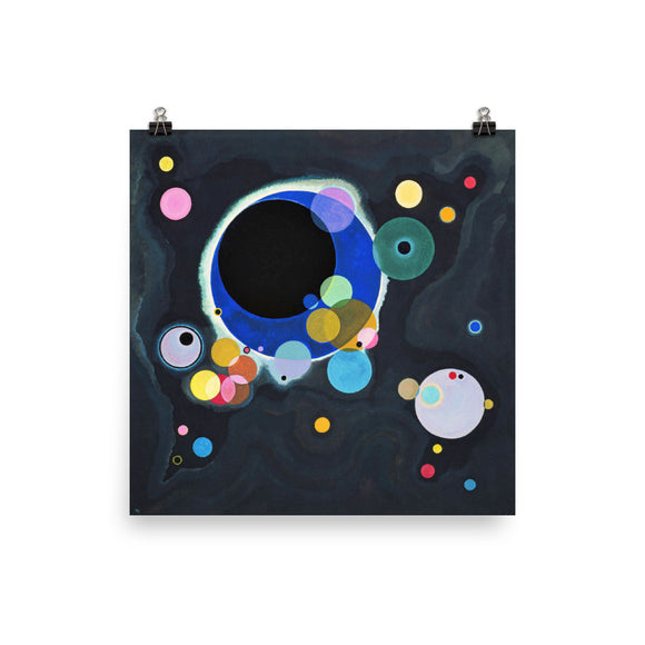 Vassily Kandinsky, Several Circles (1926) Painting Poster