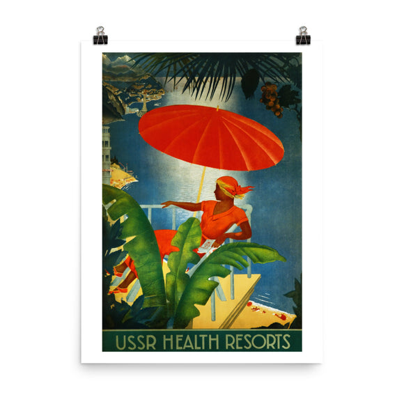 USSR Health Resorts Travel Poster