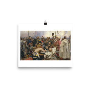 Ilya Repin, The Zaporozhye Cossacks Replying to the Sultan (1878-1891) Painting Poster
