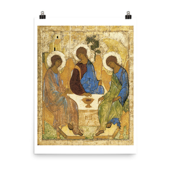 Andrei Rublev, Icon of the Holy Trinity (1422-1427) Painting Poster
