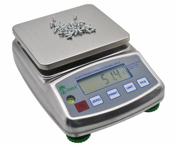 Tree HRB-S 1002 TL Stainless Steel Precision Balance, 1000 g x 0.01 g
