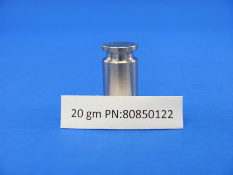 Calibration, Weight 20 gram ASTM Class 6 Stainless Steel (PN:80850122)