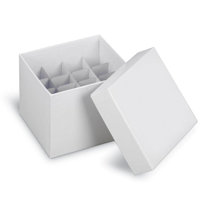Heathrow Scientific 2860T True North Cardboard Tube Storage Box Partition / Divider 36 Well 15mL Tubes, White 10/pk