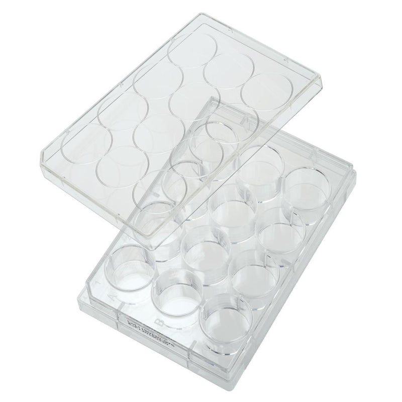 CELLTREAT 229111 12 Well Tissue Culture Plate with Lid, Individual, Sterile (50/pk)