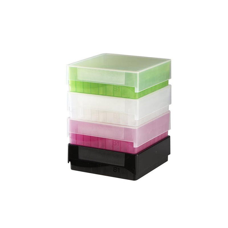 Heathrow Scientific 120036 81-Well Microtube Storage Box, Green
