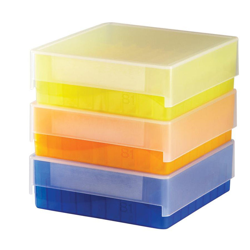 Heathrow Scientific 120035 81-Well Microtube Storage Box, Blue