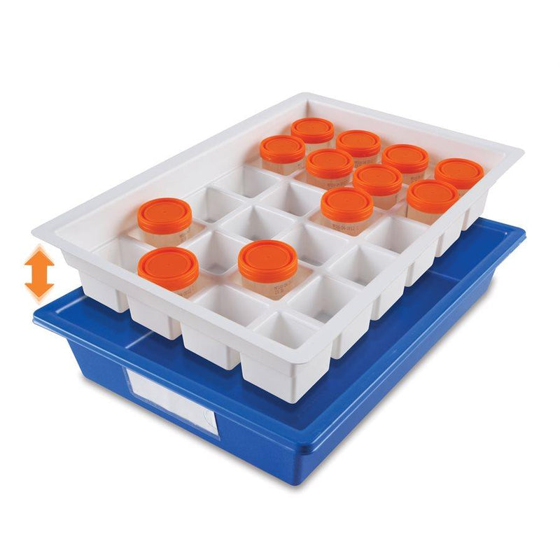 Heathrow Scientific 120172 Droplet Sample Storage Tray, Polystyrene, Blue/White