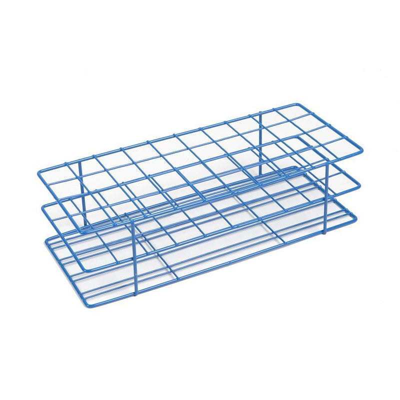 Heathrow Scientific 120767 Coated Wire Tube Rack 20-25mm 4x10 Format, Blue