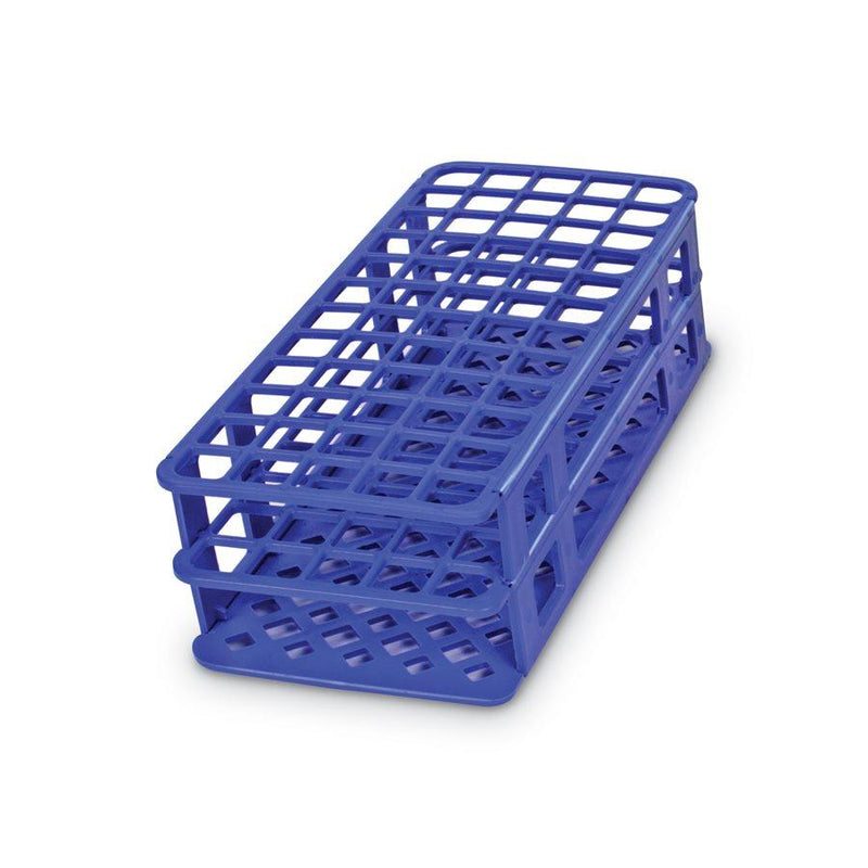 Heathrow Scientific 243073B Fold and Snap Tube Rack 13 mm 90-Place, Blue