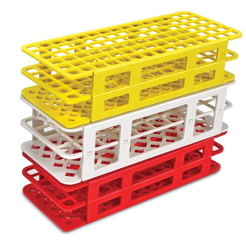 Heathrow Scientific 243073W Fold and Snap Tube Rack 13 mm 90-Place, White
