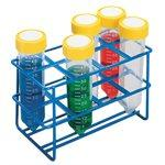 Heathrow Scientific HS232461 Coated Wire Tube Rack 25-30mm 50mL Tubes, 2x4 Format, Blue