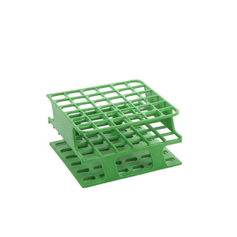 Heathrow Scientific 27501C OneRack Tube Rack Half-Size POM 13 mm 36-Place, Green