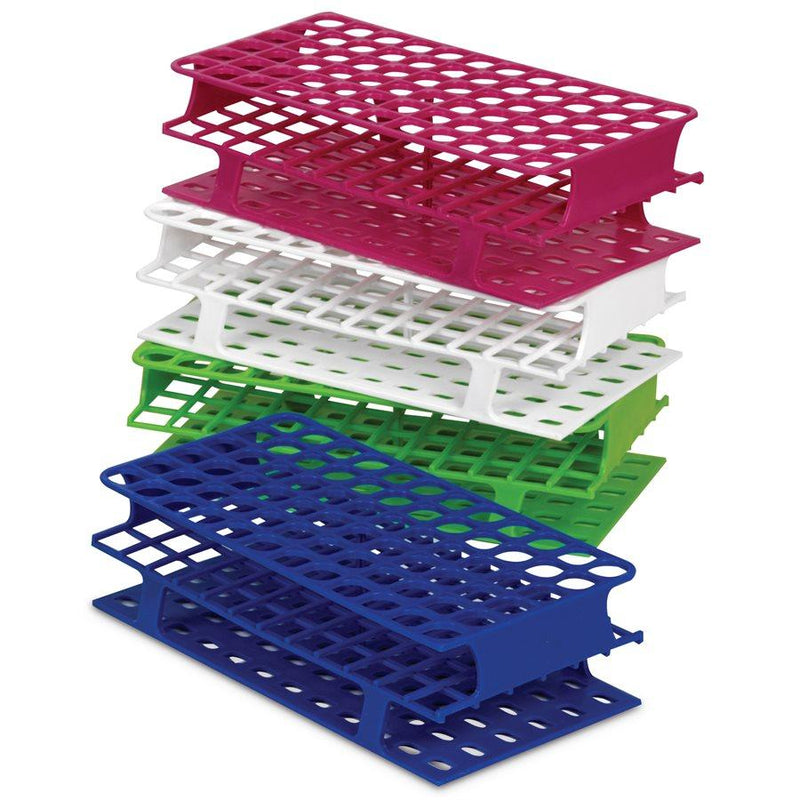Heathrow Scientific 27552C OneRack Tube Rack Full-Size PP 16 mm 72-Place, Green