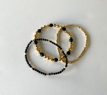 Load image into Gallery viewer, Onyx Stacking Bracelet