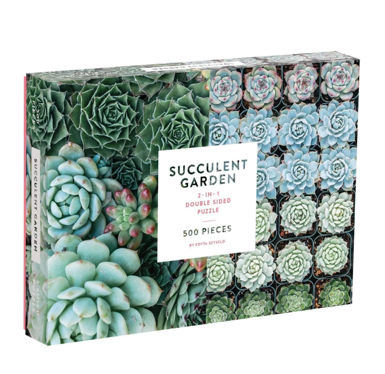 Succulent Garden Double-Sided 500 Piece Jigsaw Puzzle