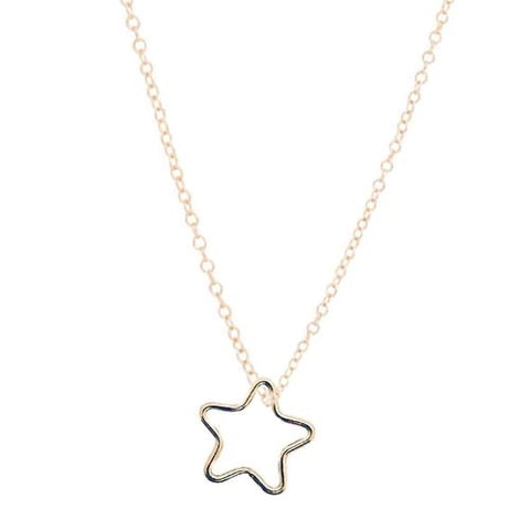 Star Gold Charm Necklace