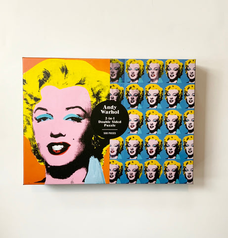 Andy Warhol 2 in 1 Double-Sided Marilyn Puzzle