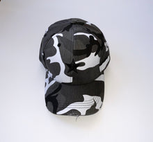 Load image into Gallery viewer, Grey Camo Black Star Cap