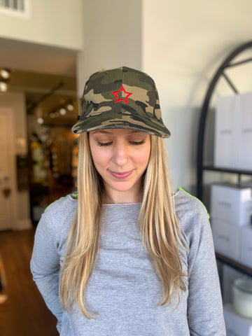 Camo Red Star Cap