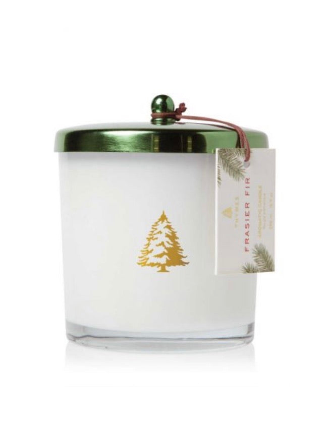 Thymes Frasier Fir Green Lid Boutique Candle Exclusive
