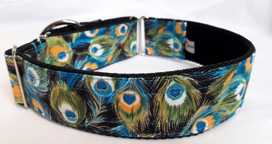 Peacock Feather Martingale Collar