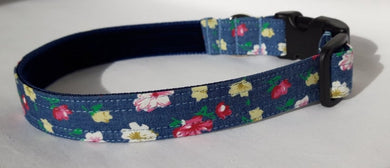 Floral Denim Collar
