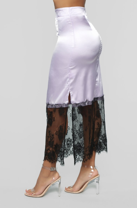 LILAC LOUNGE SLIP SKIRT