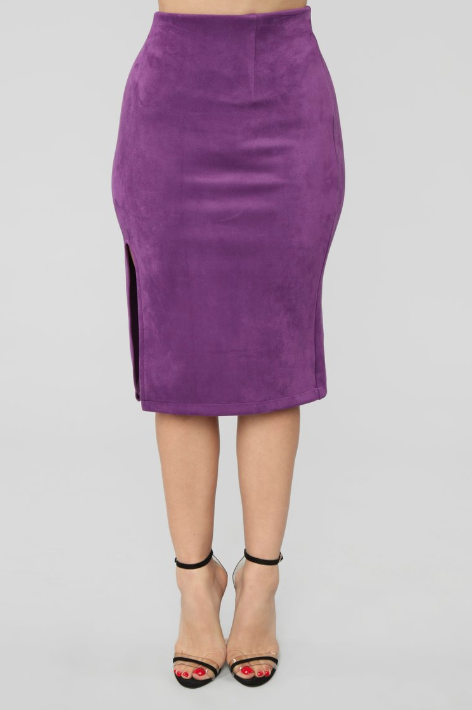 PURPLE RAIN SUEDE SKIRT