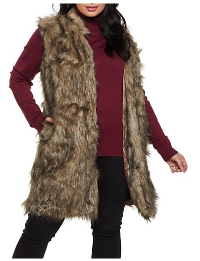 LYRICA FAUX FUR VEST - *PLUS*