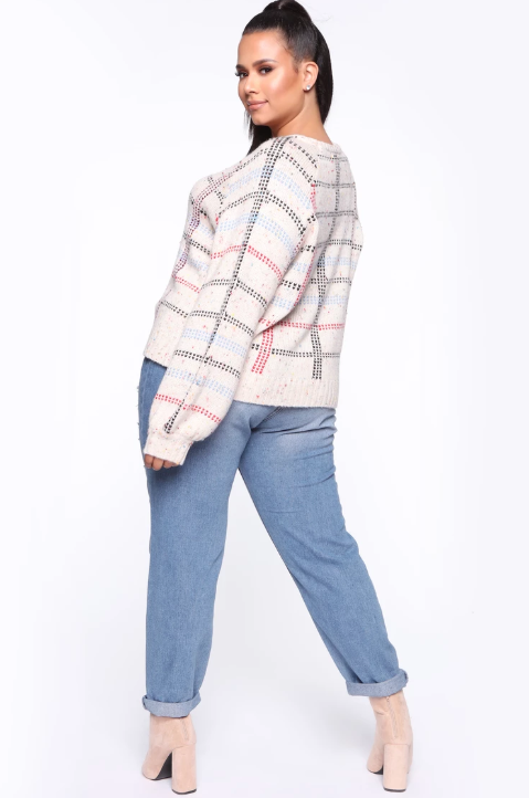 HERMIONE MULTI COLOR PLAID SWEATER